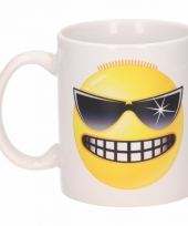 Stoere smiley mok beker 300 ml