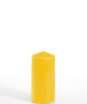 Stompkaars goudgeel 10 cm hoog