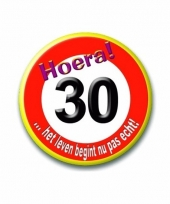 Stopbord button 30 jaar