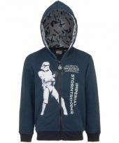 Stormtrooper sweatshirt voor jongens donkerblauw