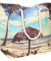 Strandtas tropisch eiland type 1 10 liter