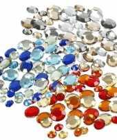 Strass plak steentjes mix 1080 stuks
