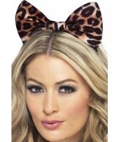 Strik op haarband met luipaard print