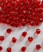 Strooi diamantjes rood 9 mm