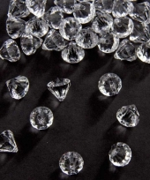 Strooi diamantjes transparant 12 mm