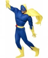 Superheld banana man kostuum
