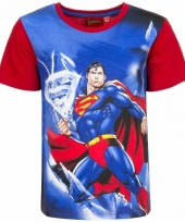 Superman t-shirt rode mouw