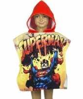 Superman zwembadponcho met rode capuchon