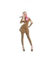 Superstar kostuum in luipaard print