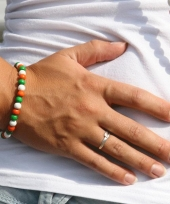 Supporters armband oranje groen wit