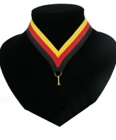 Supporters halslint zwart rood en geel