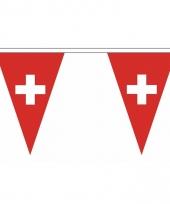 Switzerland versiering vlaggenlijn 5 m