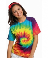 T shirt hippie alternatieve print regenboog