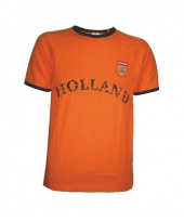 T shirt oranje met borduursel holland 10057372