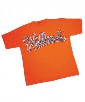 T shirt oranje met tekst holland