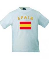 T shirts met spaanse vlag print
