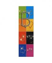 Taart sterretjes letter b van 7 cm