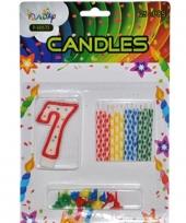 Taarten decoratie kaarsen cijfer 7