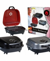 Tafel barbecue koffer rood 41 x 42 cm