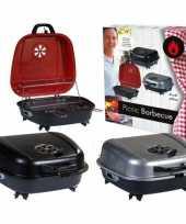 Tafel barbecue koffer zwart 41 x 42 cm