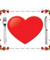 Tafel placemats love 10 stuks