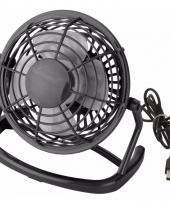 Tafel ventilator zwart usb