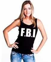 Tanktop politie fbi dames zwart