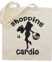 Tas 100 katoen cardio shopping