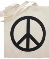 Tas 100 katoen met peace teken