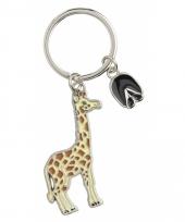 Tas sleutelhanger giraffe 5 cm