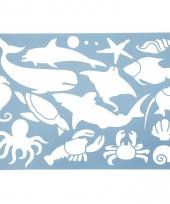 Teken sjabloon zeedieren