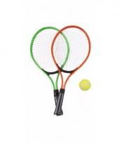 Tennis set groen rood voor kinderen