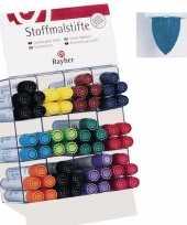 Textiel marker blauw met dikke punt