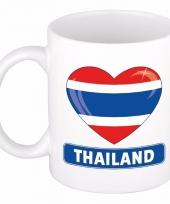 Thaise vlag hart mok beker 300 ml