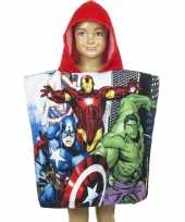 The avengers cartoon zwembadponcho rood