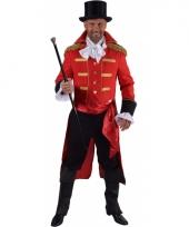 Theater rood markgraaf kostuum