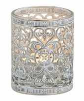 Theelichthouder zilver antiek 7 cm