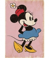 Thema minnie mouse vintage look poster 61 x 91 cm