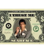 Themafeest scarface poster 61 x 91 5 cm 10062938