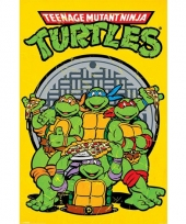 Themafeestje turtles poster 61 x 91 5 cm