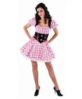 Tiroler jurk voor dames geblokt