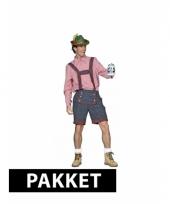 Tiroler oktoberfest kleding pakket voor heren maat xl