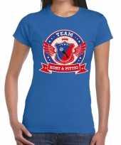 Toppers blauw kort en pittig team t-shirt dames
