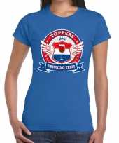 Toppers blauw toppers drinking team t-shirt dames