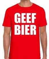 Toppers geef bier heren t-shirt rood