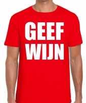 Toppers geef wijn heren t-shirt rood