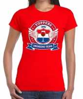 Toppers rood toppers drinking team t-shirt dames