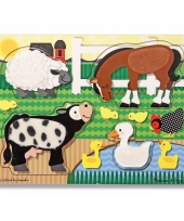 Touch and feel puzzel farm animals