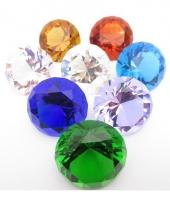 Tranparant gekleurde diamant 4 cm per stuk