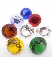 Tranparant gekleurde diamant 5 cm per stuk